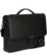 'Clarke' Black Leather Workbag image 5