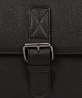 'Clarke' Black Leather Workbag image 6