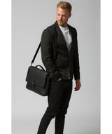 'Clarke' Black Leather Workbag image 2