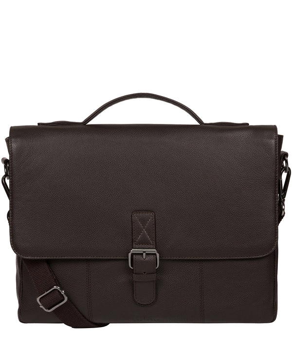 'Clarke' Brown Leather Workbag image 1