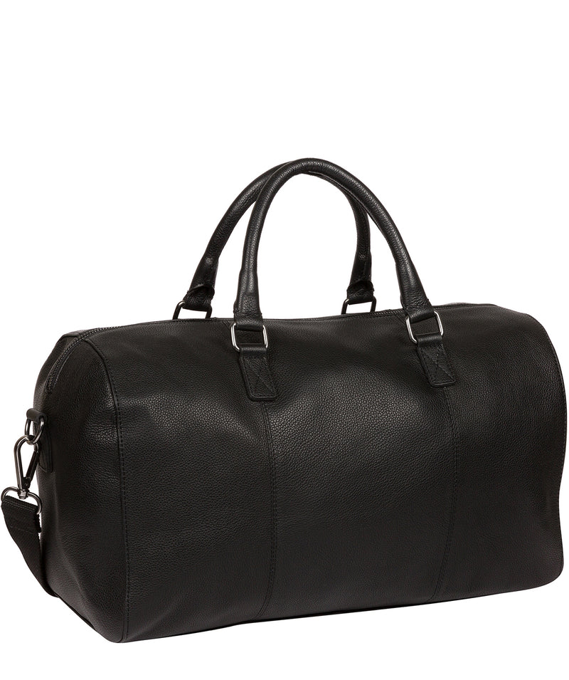 'Weekender' Black Leather Holdall image 3