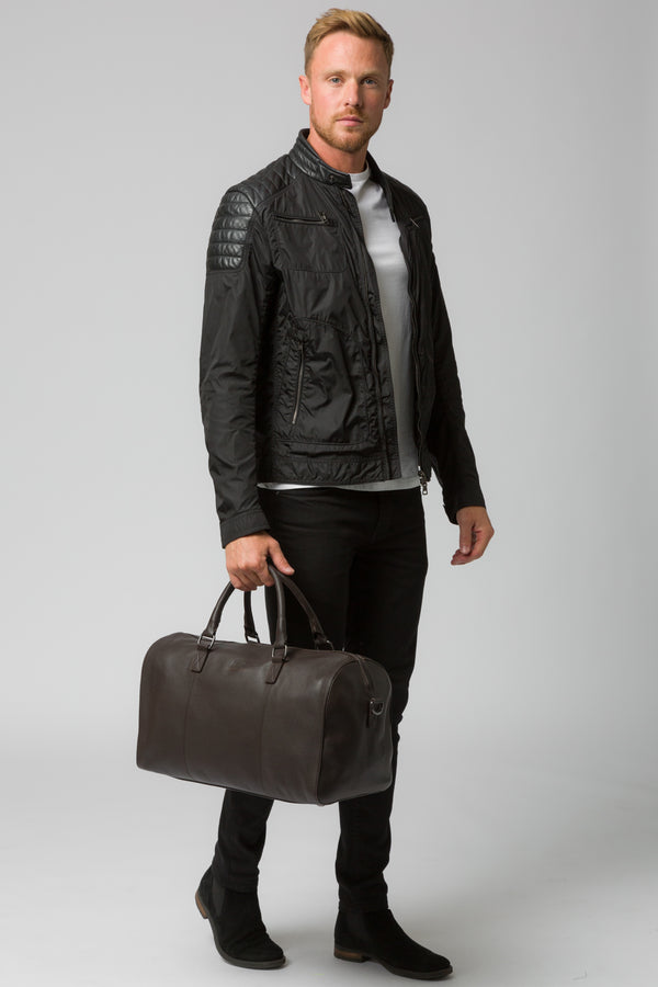'Weekender' Brown Leather Holdall
