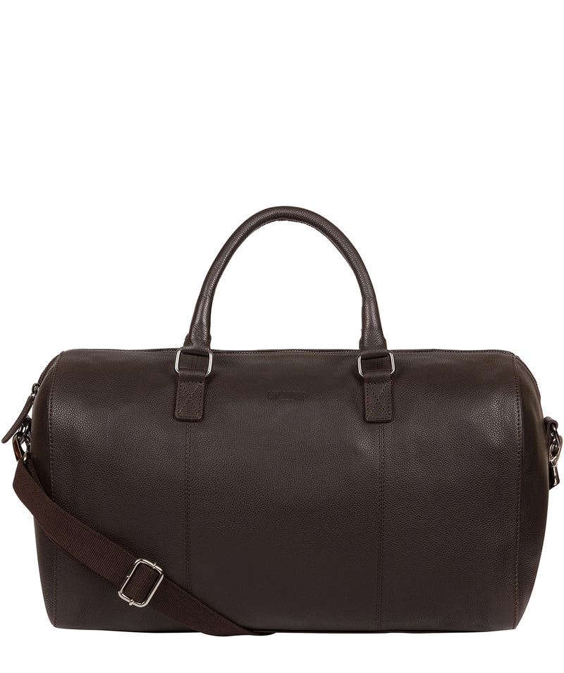 'Weekender' Brown Leather Holdall image 1