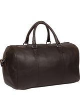 'Weekender' Brown Leather Holdall Pure Luxuries London