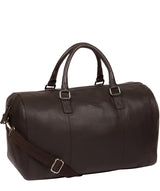 'Weekender' Brown Leather Holdall image 5