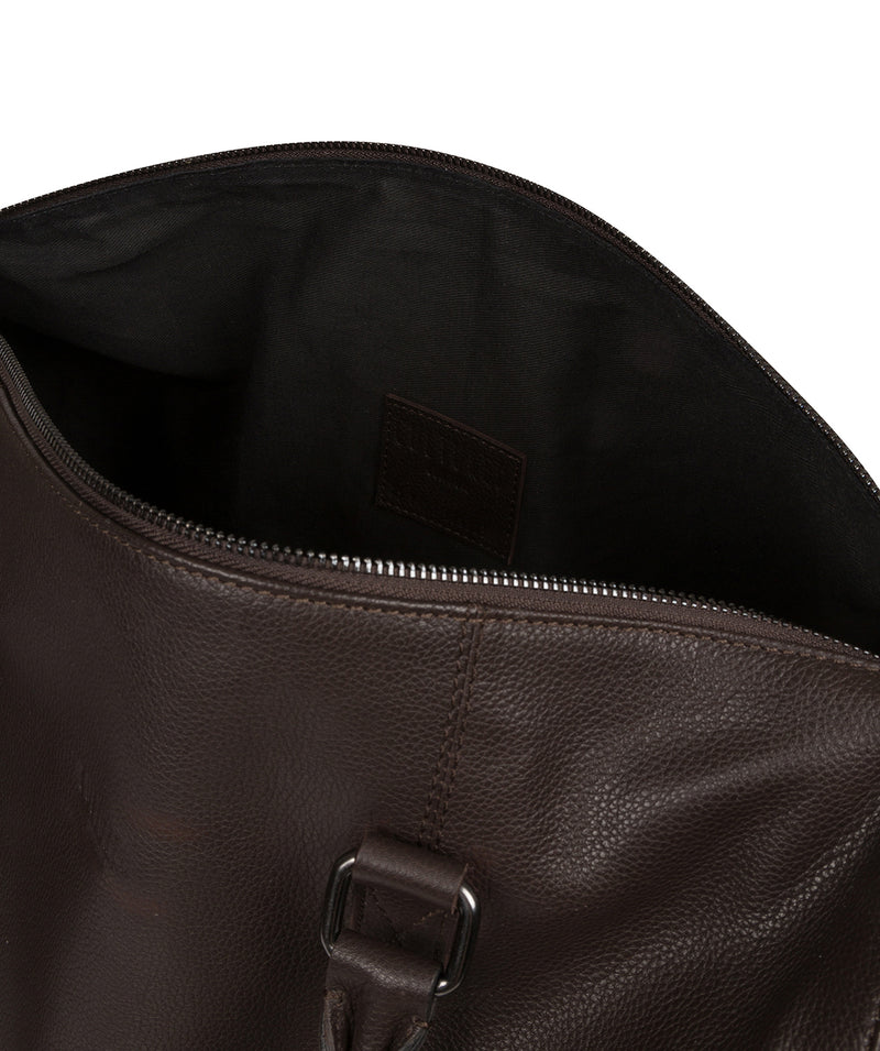 'Weekender' Brown Leather Holdall image 6