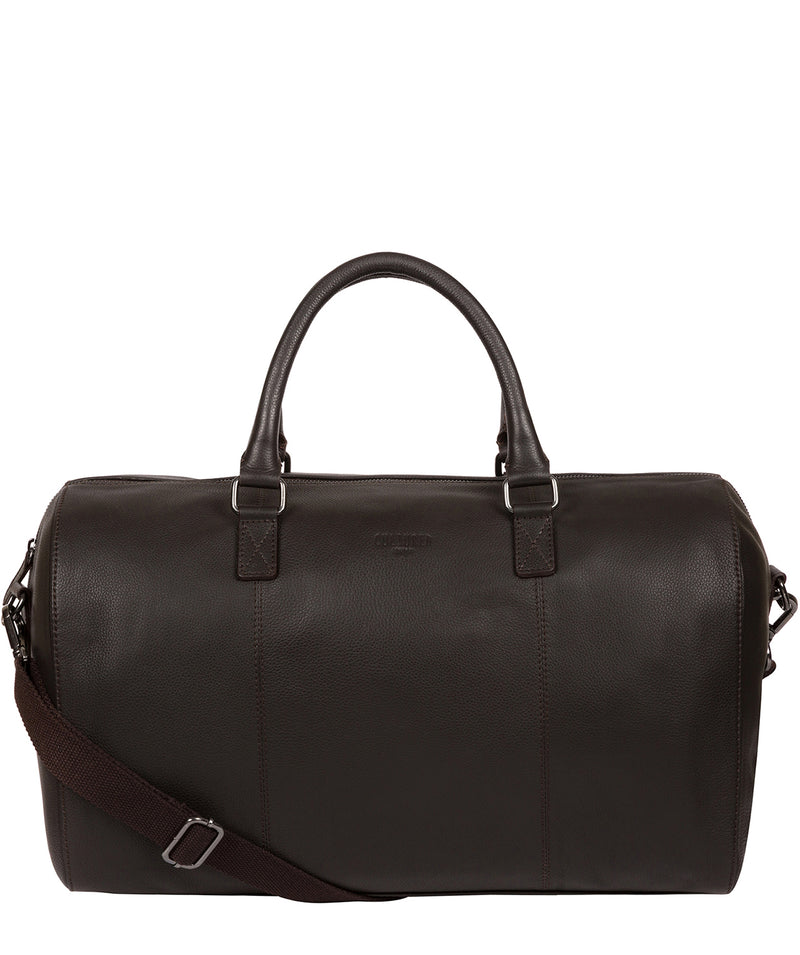 'Weekender' Dark Brown Leather Holdall image 1