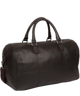 'Weekender' Dark Brown Leather Holdall image 3