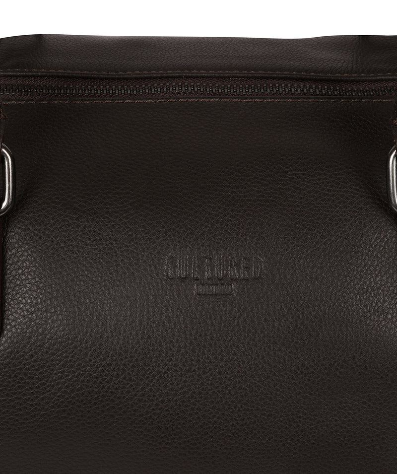 'Weekender' Dark Brown Leather Holdall image 6