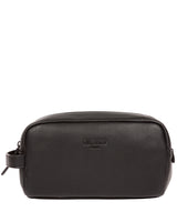 'Sail' Black Leather Washbag image 1