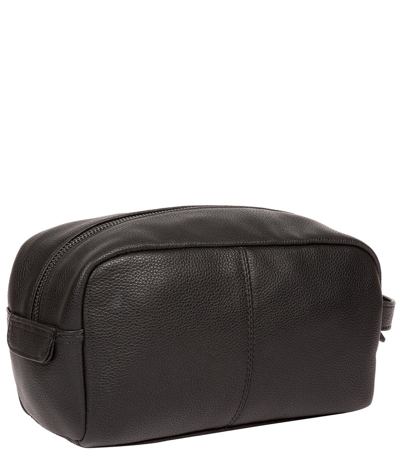 'Sail' Black Leather Washbag image 3