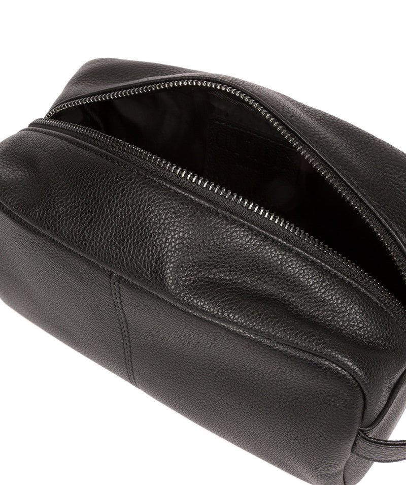 'Sail' Black Leather Washbag image 4