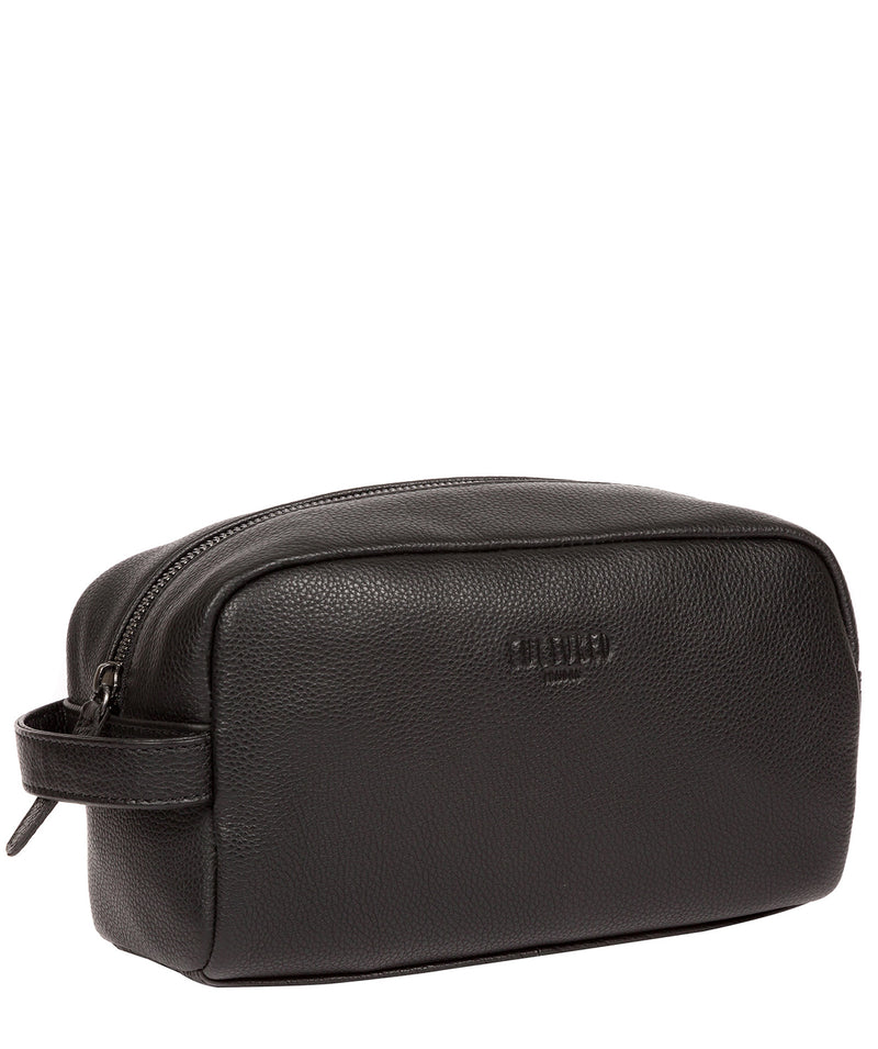 'Sail' Black Leather Washbag image 5
