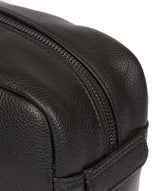 'Sail' Black Leather Washbag image 6