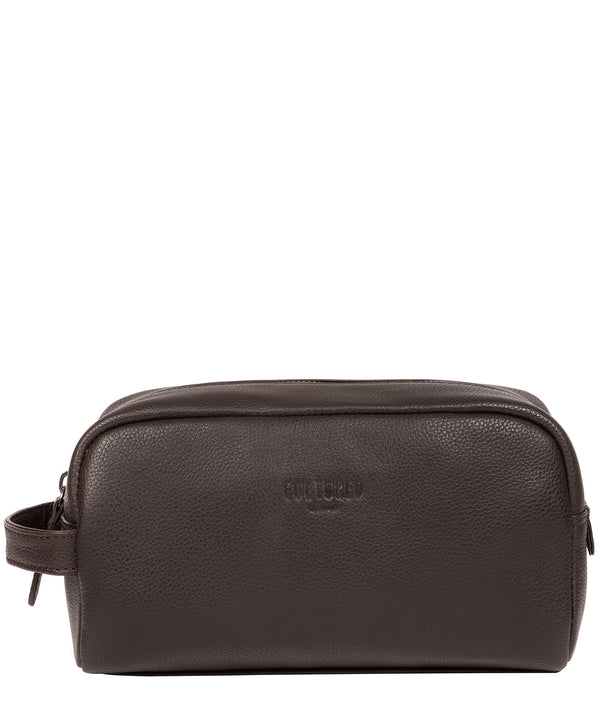 'Sail' Brown Leather Washbag image 1