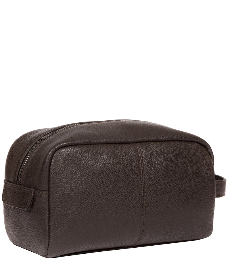 'Sail' Brown Leather Washbag image 3