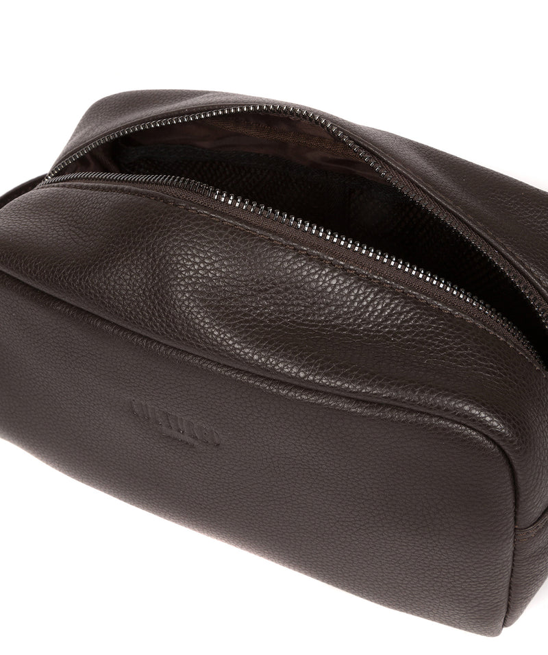 'Sail' Brown Leather Washbag image 4