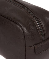 'Sail' Brown Leather Washbag image 6