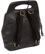 'Phoebe' Black Leather Backpack image 3