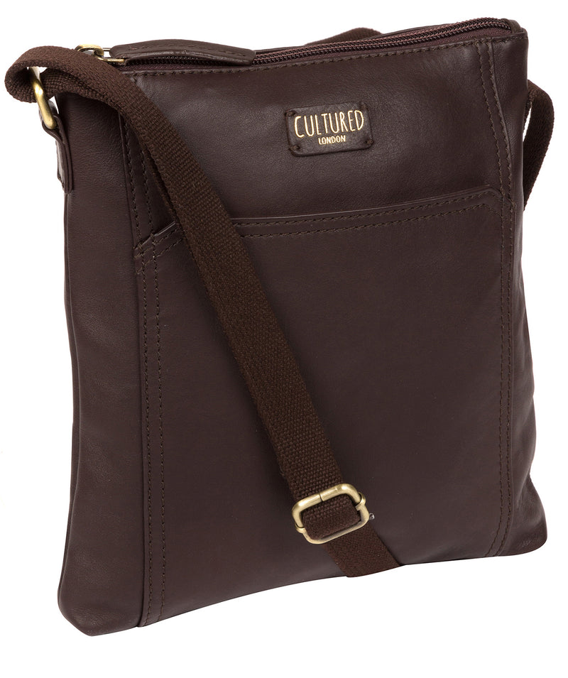 'Lucie' Brown Leather Cross Body Bags  image 5