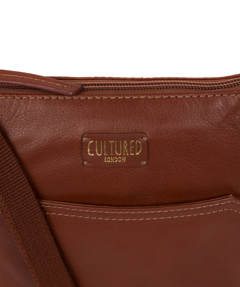 'Lucie' Cognac Leather Cross Body Bags  image 6