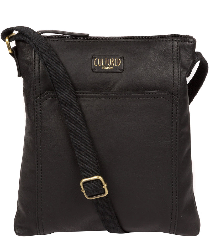 'Lucie' Ebony Leather Cross Body Bags  image 1