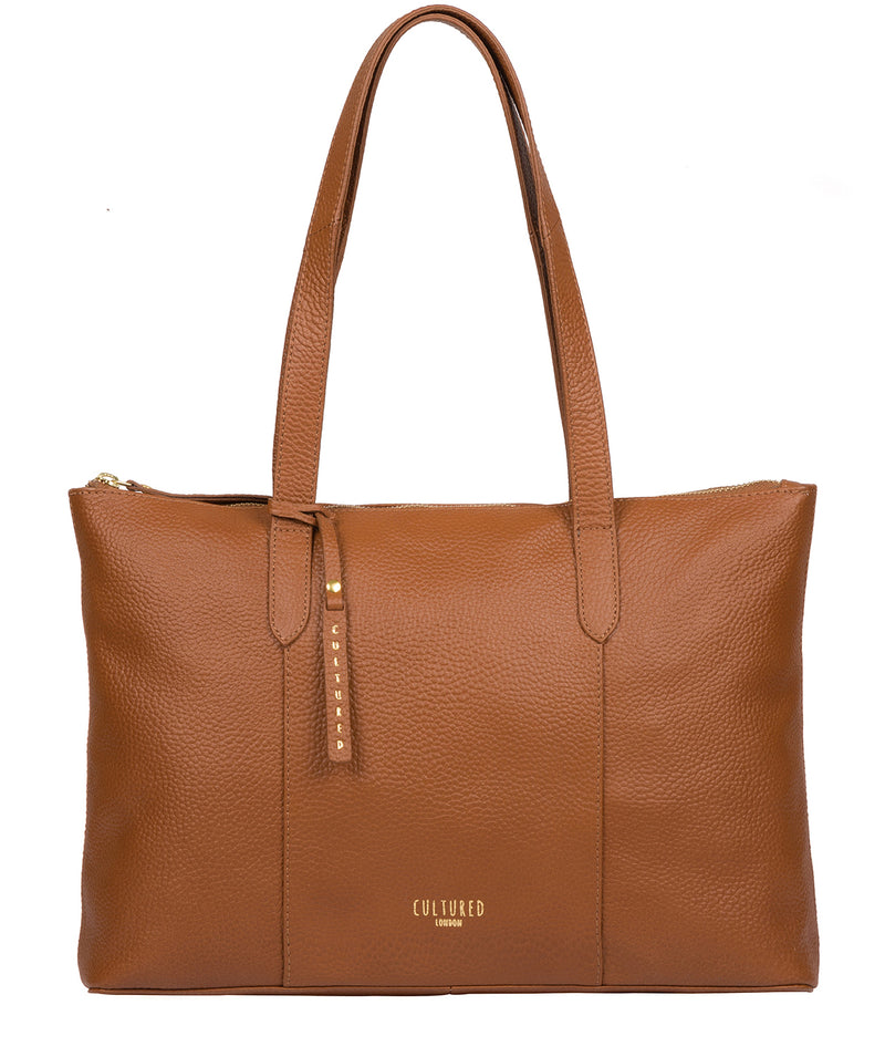 'Ombra' Tan Leather Tote Bag image 1