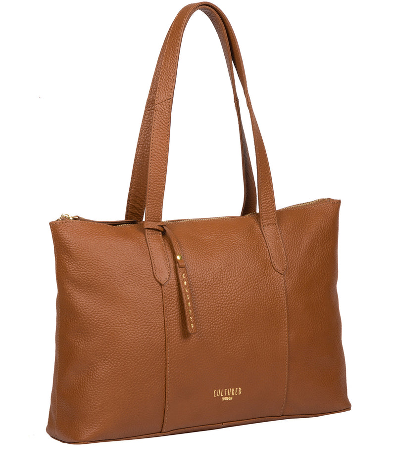 'Ombra' Tan Leather Tote Bag image 5