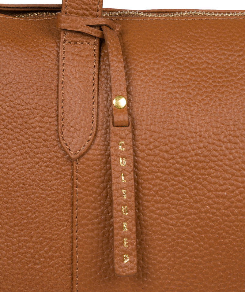 'Ombra' Tan Leather Tote Bag image 6