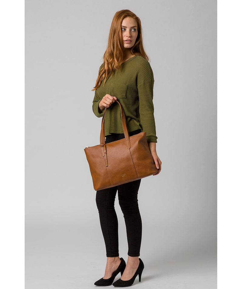 'Ombra' Tan Leather Tote Bag image 2