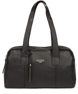 'Johanson' Black Leather Handbag Pure Luxuries London