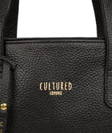 'Sabrina' Black Leather Handbag Pure Luxuries London
