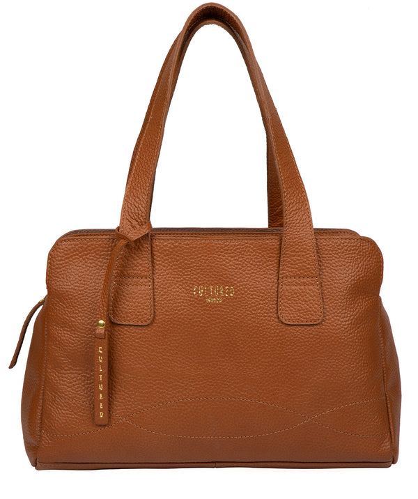 'Sabrina' Tan Leather Handbag Pure Luxuries London