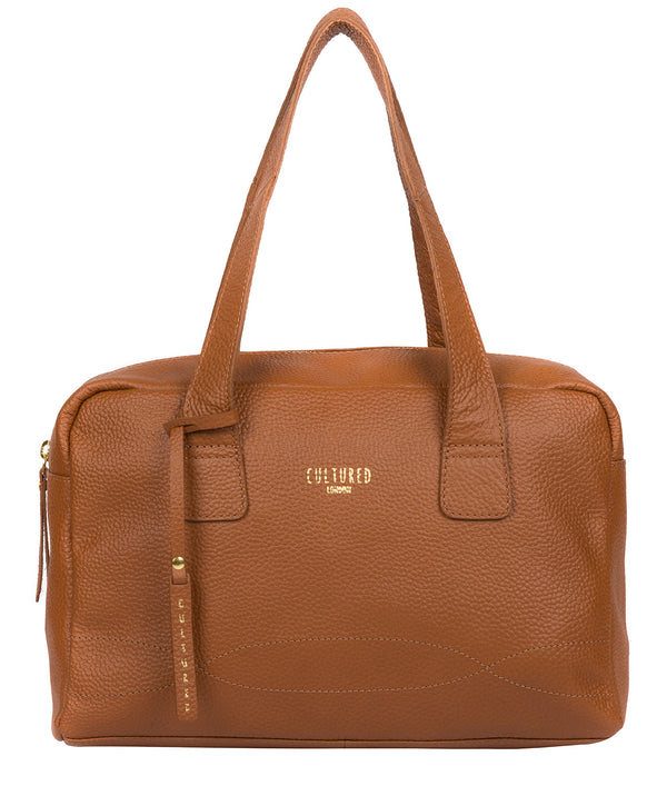 'Saldana' Tan Leather Handbag image 1