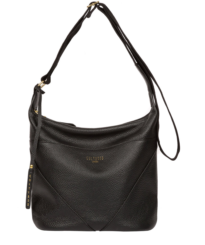 'Olsen' Black Leather Shoulder Bag image 1