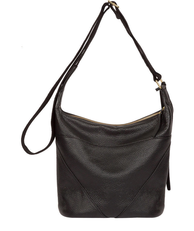 'Olsen' Black Leather Shoulder Bag image 3