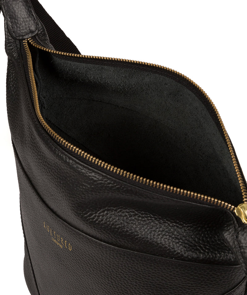 'Olsen' Black Leather Shoulder Bag image 4