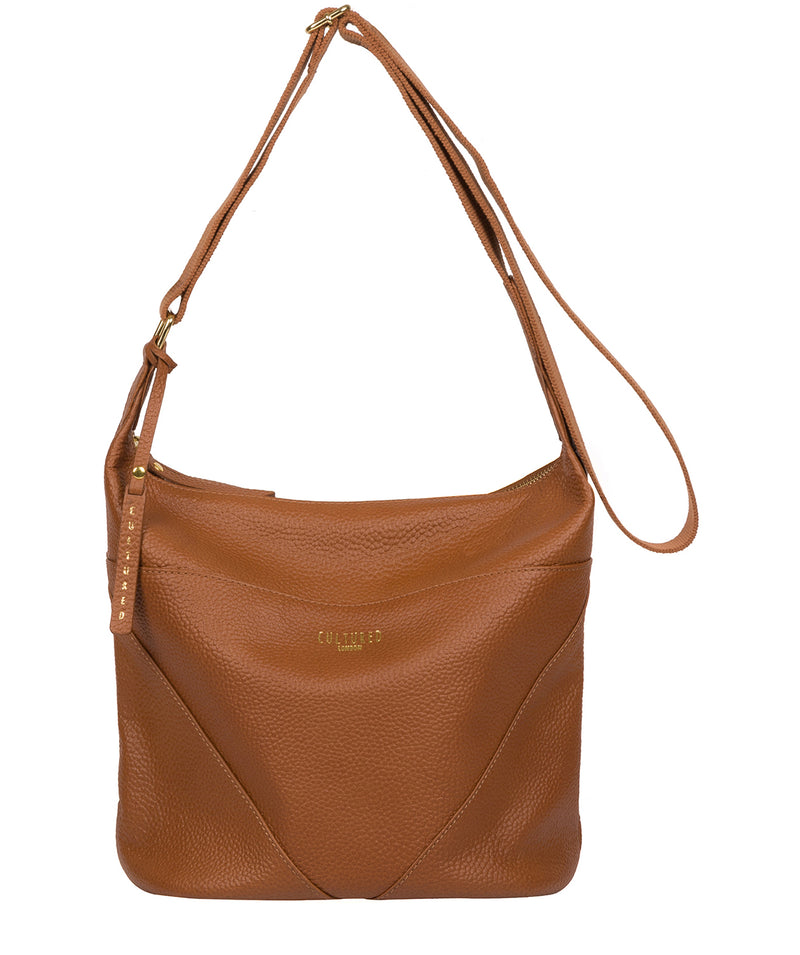 'Olsen' Tan Leather Shoulder Bag image 1