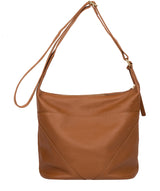 'Olsen' Tan Leather Shoulder Bag image 3