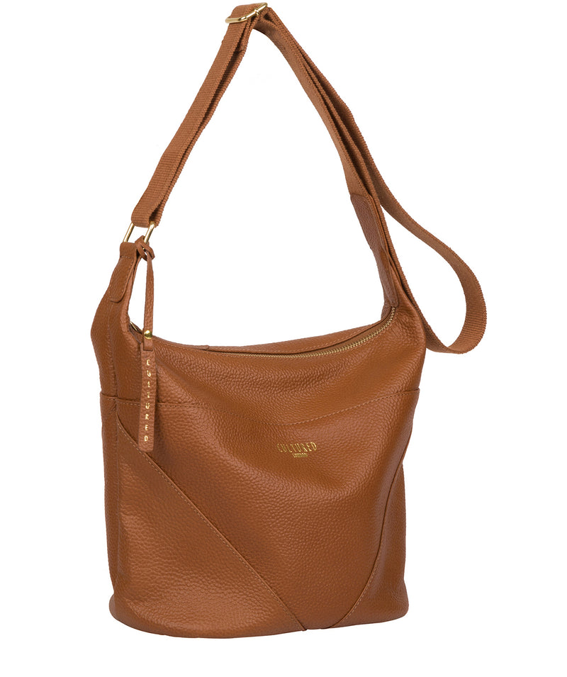 'Olsen' Tan Leather Shoulder Bag image 5