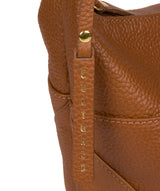 'Olsen' Tan Leather Shoulder Bag image 6