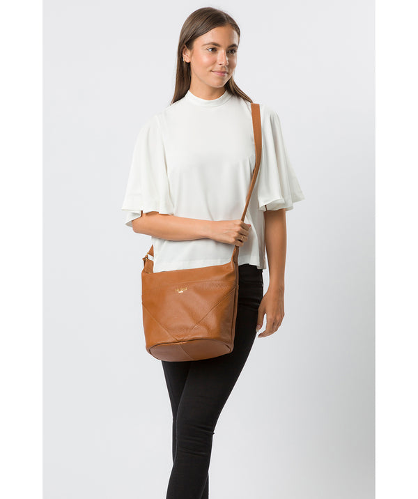 'Olsen' Tan Leather Shoulder Bag image 2