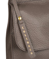'Karina' Silver Grey Leather Cross Body Bag Pure Luxuries London