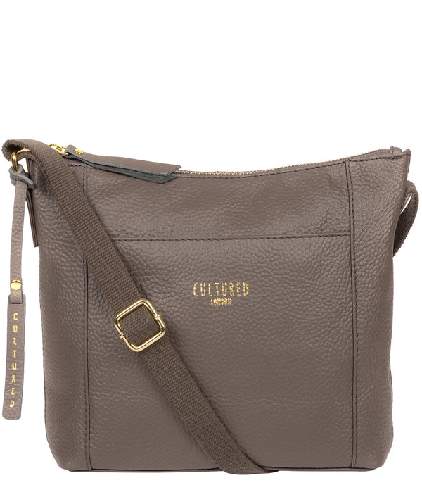 'Jenny' Silver Grey Leather Cross Body Bag image 1