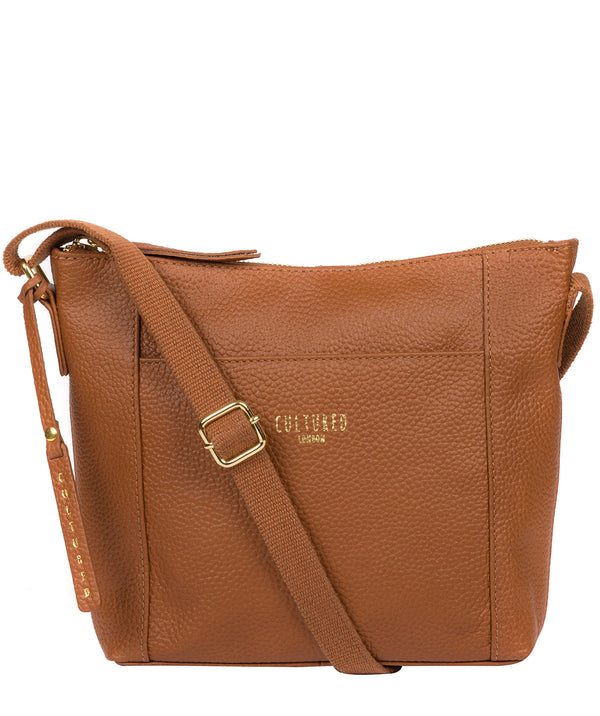'Jenny' Tan Leather Cross Body Bag image 1