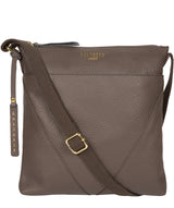 'Celia' Silver Grey Leather Cross Body Bag image 1