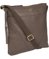 'Celia' Silver Grey Leather Cross Body Bag image 5