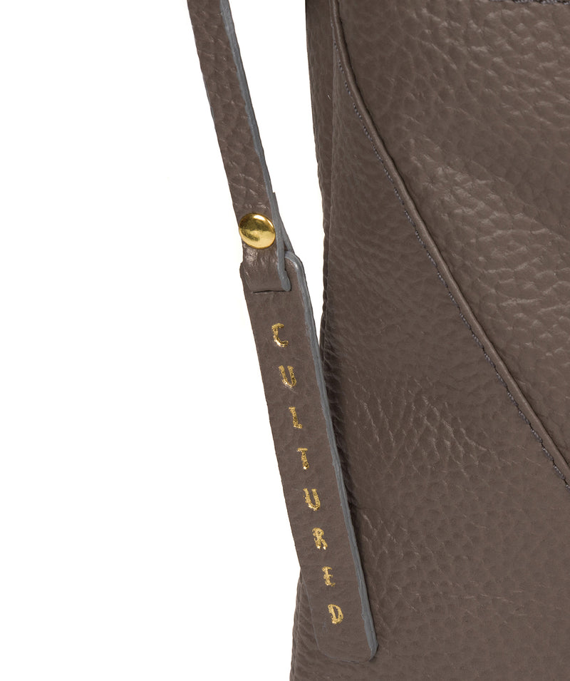 'Celia' Silver Grey Leather Cross Body Bag image 6