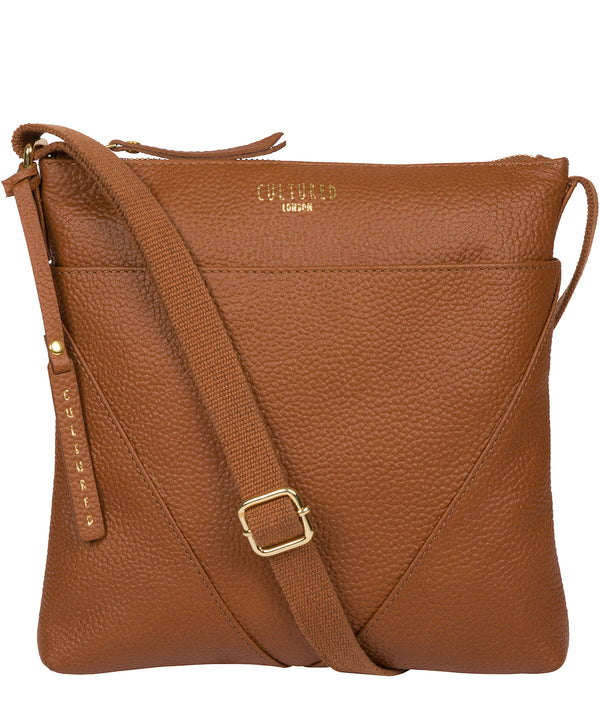 'Celia' Tan Leather Cross Body Bag image 1