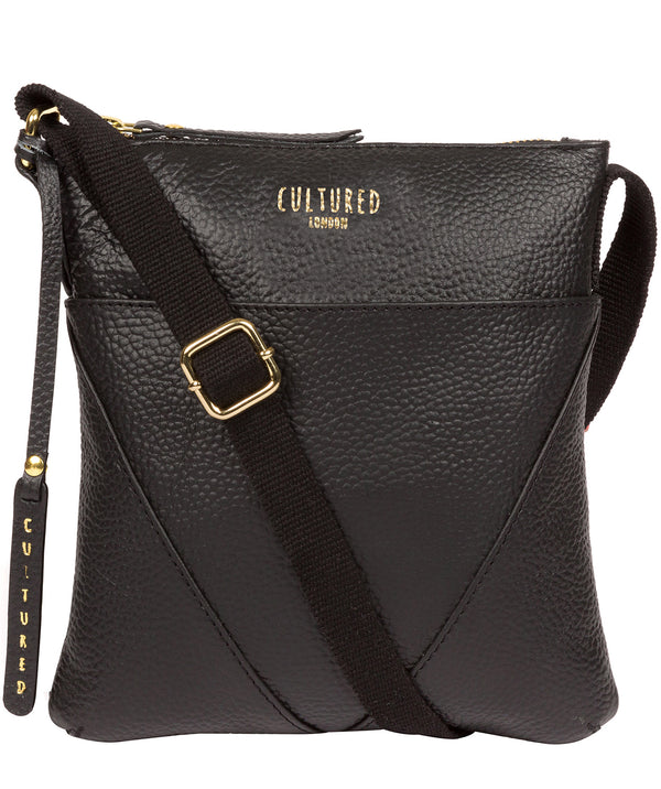 'Rebecca' Black Leather Cross Body Bag image 1